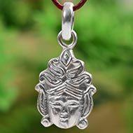 Durga Face Locket in pure silver