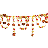 Rudraksha with Red Jade Toran