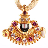 Tirupati Balaji Locket in Gold - 3.16 gms
