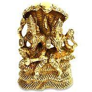 Vishnu Laxmi in brass - II
