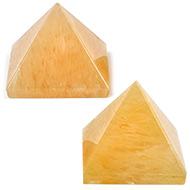 Pyramid in Natural Yellow Jade - Set of 2 - III