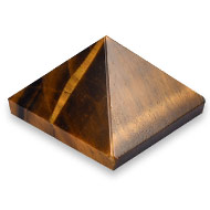 Pyramid in Tiger Eye - Luck and stability - I