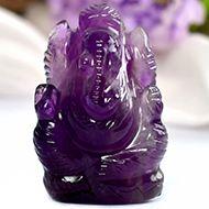 Ganesha in Amethyst - 17 gms