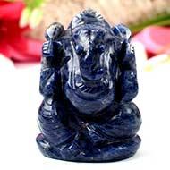 Blue Sodolite Ganesha - 139 gms