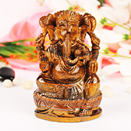 Tiger Eye Ganesha - 582 gms