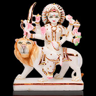 Maa Durga on Lion Idol in