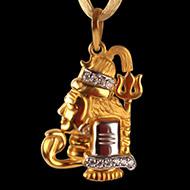 Shiva Pendant in Gold - 5.43 gms