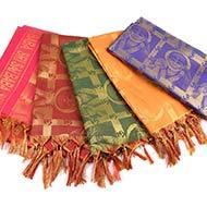Sri Sai Baba Shawl in Art Silk