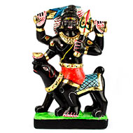 Kaal Bhairav in black marble idol