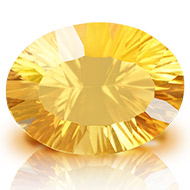 Yellow Citrine Superfine Cutting - 9.35 carats - Oval