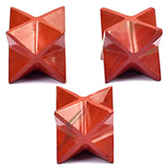 Star Pyramid in Red Jasper - Set of 3
