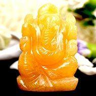 Ganesha In Yellow Jade - 88 gms