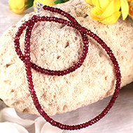 Garnet Faceted mala