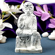 Sai Baba statue in Howlite-335 gms