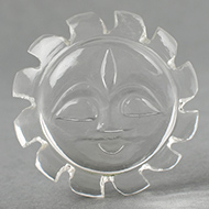 Surya Face in Crystal