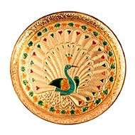 Peacock Thali Pedestal in brass