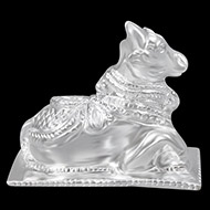 Nandi in Pure Silver - III