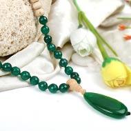 Green Onyx and Tulsi beads Mala