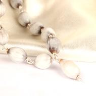 White Vaijayanti mala in Silver