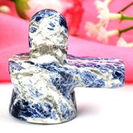 Blue Sodalite Shivling - 39 gms