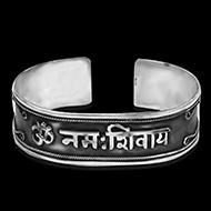 Om Namah Shivaya Bracelet Pure Silver - Design III