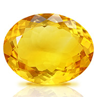 Yellow Citrine - 14 carats - Oval