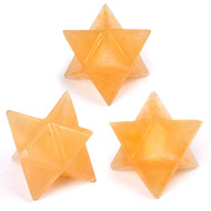 Star Pyramid in Yellow Jade - Set of 3