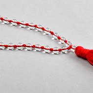 Sphatik mala in thread - 4 mm