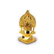 Shiva Parvati oil lamp in brass