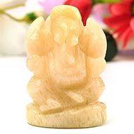 Yellow Jade Ganesha - 90 gms