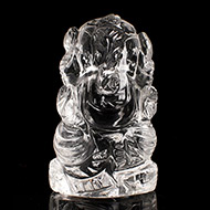 Ganesh Idol in pure quartz - 20 gms - II