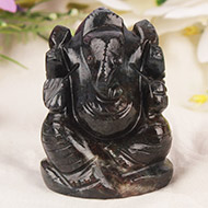 Iolite Ganesha - 110 gms