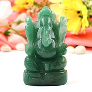 Ganesha in Light Green Jade - 166 gms