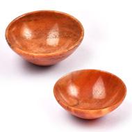 Red Jasper Bowls - Set of 2