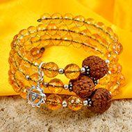 12 Mukhi Rudraksha and Citrine Bracelet - II (Solar)