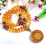 12 Mukhi Rudraksha and Citrine Mala (Solar)