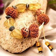 12 Mukhi and Citrine gemstone bracelet (Solar)