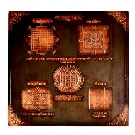 Shree Vaastu Maha yantra in Copper - Antique finish - 9 inches