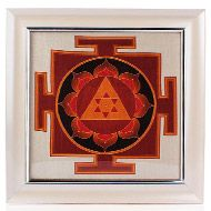 Ganesh Yantra on silk with frame