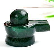 Green Jade Shivlinga - 133 gms