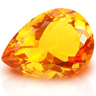 Yellow Citrine - 15.55 carats - Pear