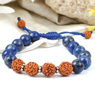 Lapis Lazuli and Rudraksha Bracelet