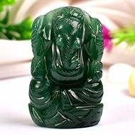 Ganesha in Columbian Green Jade  - 66 gms