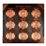 Shri Navgraha Maha Yantram in Copper - Antique finish - 9 inches