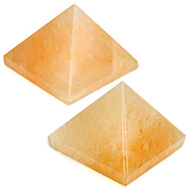 Pyramid in Natural Yellow Jade - Set of 2 - 35 gms