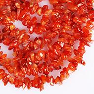 Carnelian necklace - Uncut beads