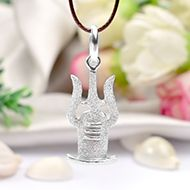 Shivling with Trishul in Pure Silver