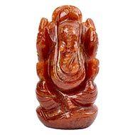 Red Jade Ganesha - 75 gms