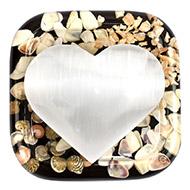 Selanite Hearts - White - I