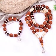 4 mukhi Brahma mala and bracelet set